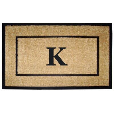 Frame Monogrammed Doormat Letter: K