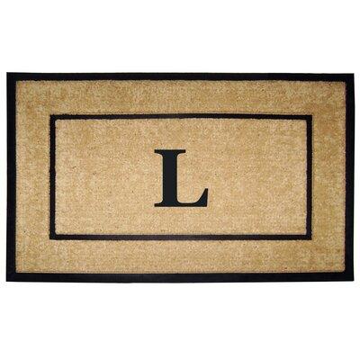 Frame Monogrammed Doormat Letter: L