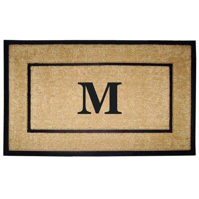 Frame Monogrammed Doormat Letter: M