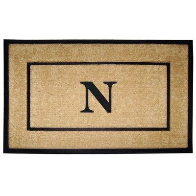 Frame Monogrammed Doormat Letter: N