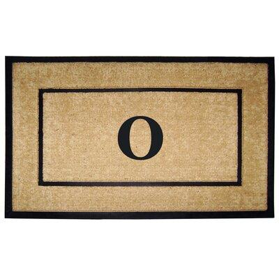 Frame Monogrammed Doormat Letter: O