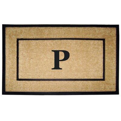 Frame Monogrammed Doormat Letter: P