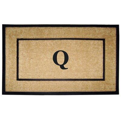 Frame Monogrammed Doormat Letter: Q