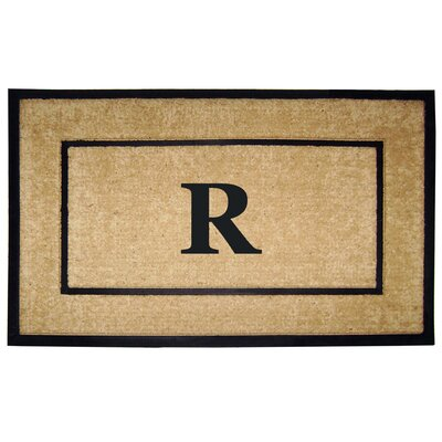 Frame Monogrammed Doormat Letter: R