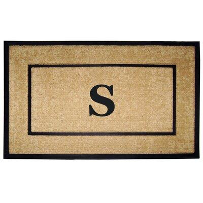Frame Monogrammed Doormat Letter: S