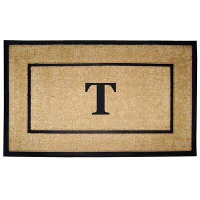 Frame Monogrammed Doormat Letter: T