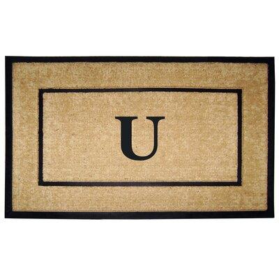 Frame Monogrammed Doormat Letter: U