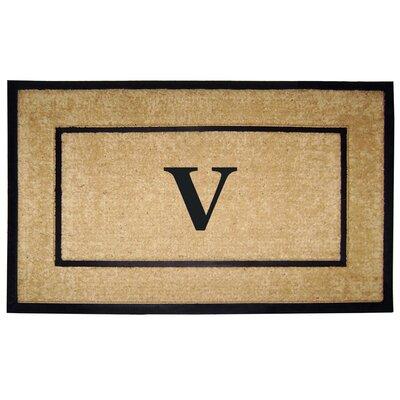 Frame Monogrammed Doormat Letter: V