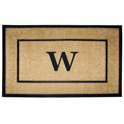 Frame Monogrammed Doormat Letter: W