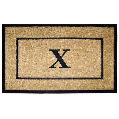 Frame Monogrammed Doormat Letter: X