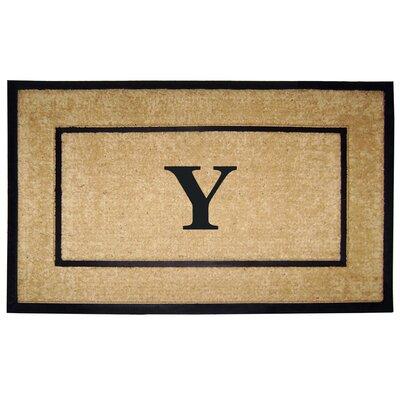 Frame Monogrammed Doormat Letter: Y