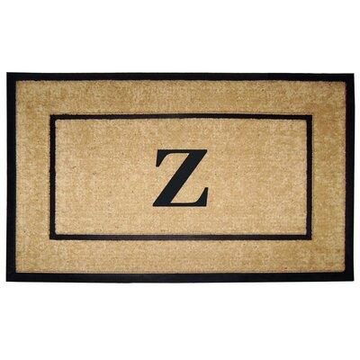 Frame Monogrammed Doormat Letter: Z