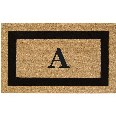 SuperScraper Single Picture Frame Monogrammed Doormat Letter: A