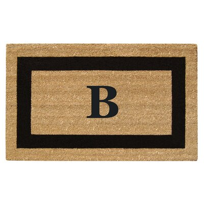 SuperScraper Single Picture Frame Monogrammed Doormat Letter: B