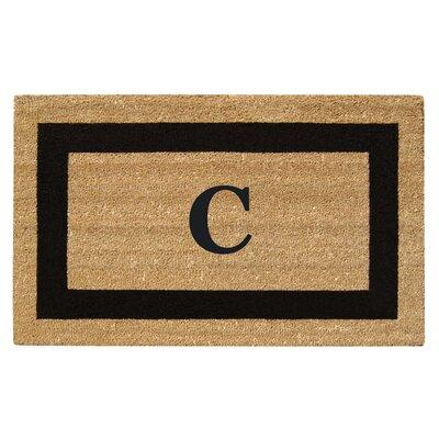 SuperScraper Single Picture Frame Monogrammed Doormat Letter: C
