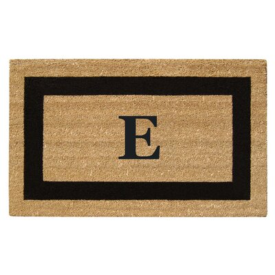 SuperScraper Single Picture Frame Monogrammed Doormat Letter: E