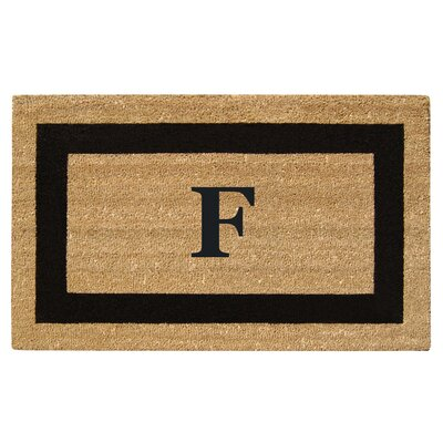 SuperScraper Single Picture Frame Monogrammed Doormat Letter: F