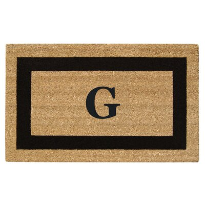 SuperScraper Single Picture Frame Monogrammed Doormat Letter: G
