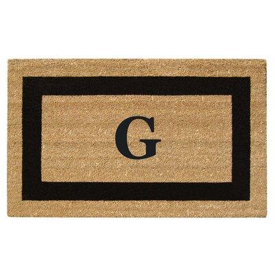 SuperScraper Single Picture Frame Monogrammed Doormat Letter: G