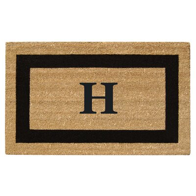SuperScraper Single Picture Frame Monogrammed Doormat Letter: H