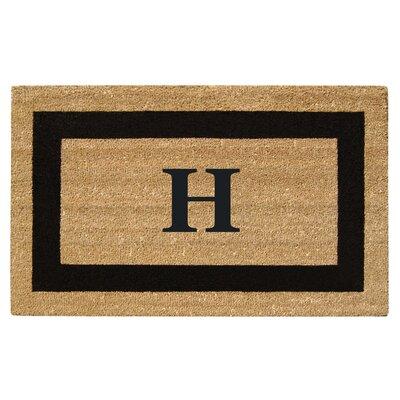 SuperScraper Single Picture Frame Monogrammed Doormat Letter: H