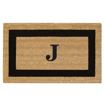 SuperScraper Single Picture Frame Monogrammed Doormat Letter: J