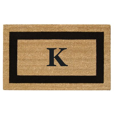 SuperScraper Single Picture Frame Monogrammed Doormat Letter: K