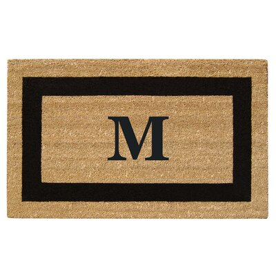 SuperScraper Single Picture Frame Monogrammed Doormat Letter: M