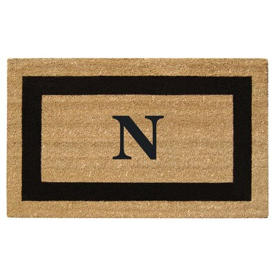 SuperScraper Single Picture Frame Monogrammed Doormat Letter: N
