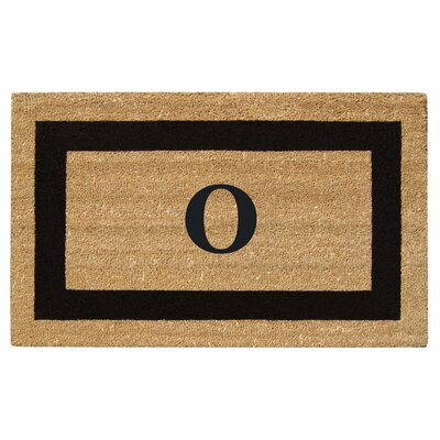 SuperScraper Single Picture Frame Monogrammed Doormat Letter: O