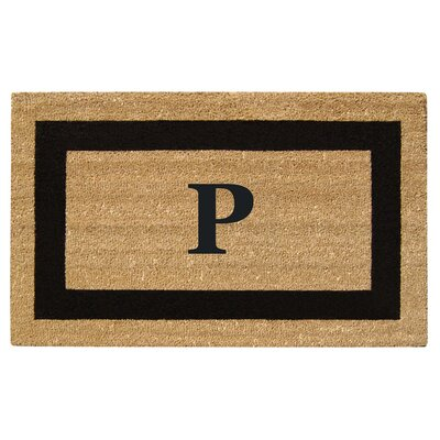 SuperScraper Single Picture Frame Monogrammed Doormat Letter: P