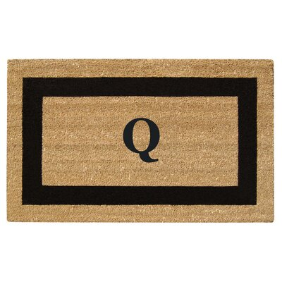 SuperScraper Single Picture Frame Monogrammed Doormat Letter: Q