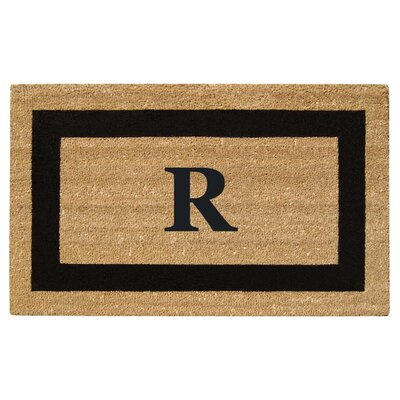 SuperScraper Single Picture Frame Monogrammed Doormat Letter: R