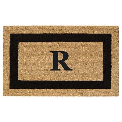 SuperScraper Single Picture Frame Monogrammed Doormat Letter: R