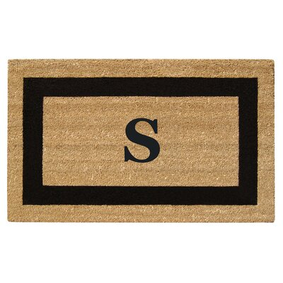 SuperScraper Single Picture Frame Monogrammed Doormat Letter: S