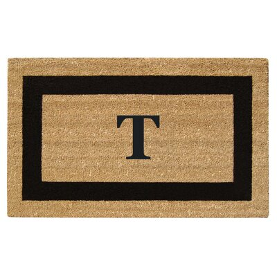 SuperScraper Single Picture Frame Monogrammed Doormat Letter: T