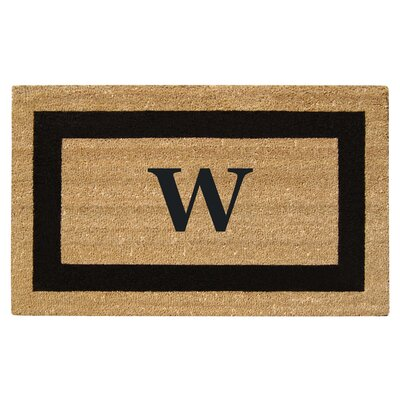 SuperScraper Single Picture Frame Monogrammed Doormat Letter: W
