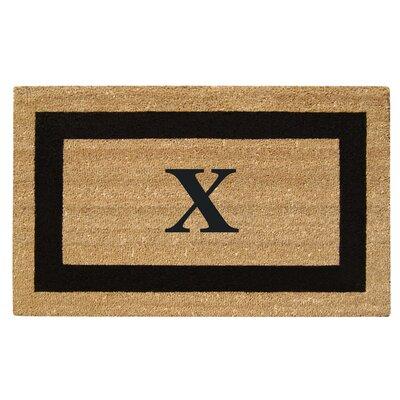 SuperScraper Single Picture Frame Monogrammed Doormat Letter: X