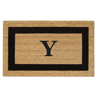 SuperScraper Single Picture Frame Monogrammed Doormat Letter: Y