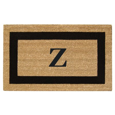 SuperScraper Single Picture Frame Monogrammed Doormat Letter: Z
