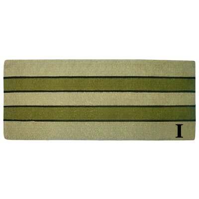 Heavy Duty Door Mat Letter: I