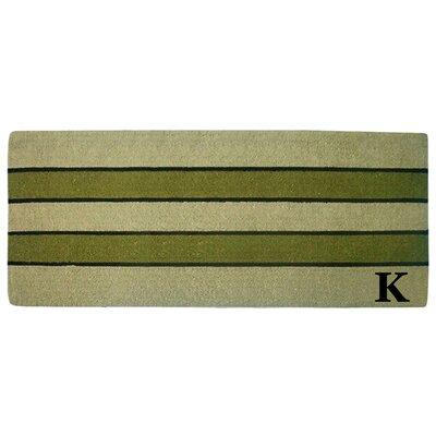 Heavy Duty Door Mat Letter: K
