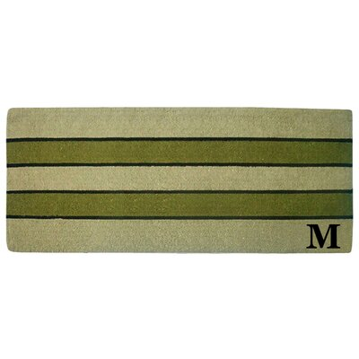 Heavy Duty Door Mat Letter: M