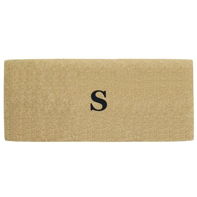 Heavy Duty Door Mat Letter: S
