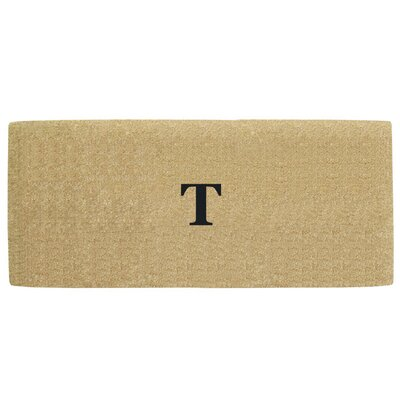 Heavy Duty Door Mat Letter: T