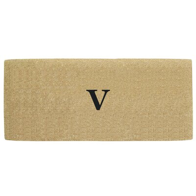 Heavy Duty Door Mat Letter: V