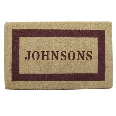 Personalized Heavy Duty Door Mat Color: Brown