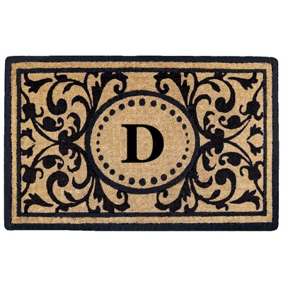 Heritage Heavy Duty Door Mat Letter: D