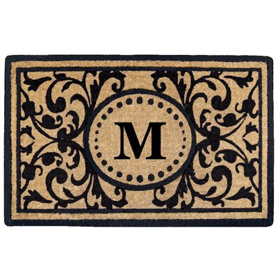 Heritage Heavy Duty Door Mat Letter: M