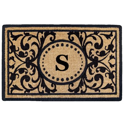 Heritage Heavy Duty Door Mat Letter: S